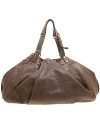 Diane von Furstenberg - Leather Belle Draped Wrap Bag - Lyst