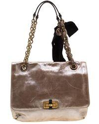 a3cb1352c953 Lanvin Happy Mini Pop Quilted Crossbody Bag Black in Black - Lyst