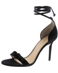Charlotte Olympia - Satin Shelley Bow Embellished Ankle Wrap Sandals - Lyst