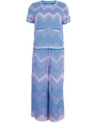 Chanel - Jacquard Knit Top And Culottes Set S - Lyst