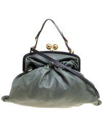 Marni - Leather Kiss Lock Frame Shoulder Bag - Lyst