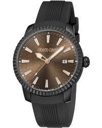 Roberto Cavalli - Chocolate Stainless Steel Rv1g026p0021 Men's Wristwatch 42mm - Lyst