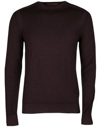 Louis Vuitton - Wool Pigment Overdyed Long Sleeve Crew Neck Sweater S - Lyst