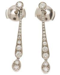 Tiffany & Co. - Jazz Diamond Platinum Earrings - Lyst