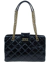 f6e43d888d91 Chanel Limited Edition Black Quilted Glazed Calfskin Leather Perfect ...