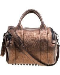 Alexander Wang - Bronze Textured Leather Rocco Top Handle Bag - Lyst