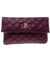 Marc Jacobs - Quilted Leather Eugenie Clutch - Lyst