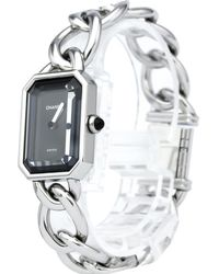 Chanel - Stainless Steel Large Premiere Chaine Women's Wristwatch 20mm - Lyst
