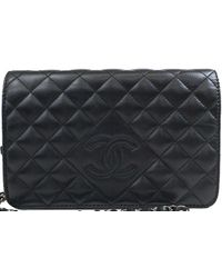 Chanel - Quilted Leather Woc Clutch Bag - Lyst