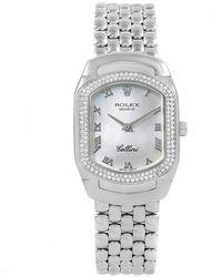 Rolex - Mop 18k White Gold Diamond Cellini Cellissima Women's Wristwatch 35mm - Lyst