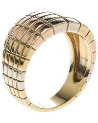 Van Cleef & Arpels - Vintage Textured 18k Three Tone Gold Ring Size 54 - Lyst