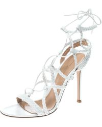 Gianvito Rossi - Braided Leather Cage Sandals - Lyst