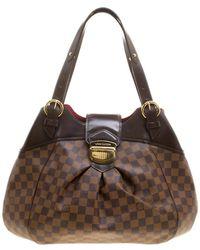 Louis Vuitton - Damier Ebene Canvas Sistina Gm Bag - Lyst