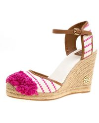 f6744743869 Leather-trimmed Fringed Canvas Wedge Espadrilles