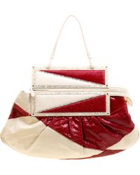 Fendi - Off /red Python To You Convertible Clutch Bag - Lyst