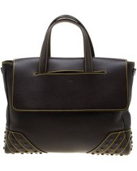 Tod's - Dark Brown Leather Envelope Bag - Lyst