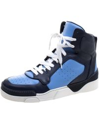 Givenchy - Two Tone Leather Tyson High Top Trainers - Lyst
