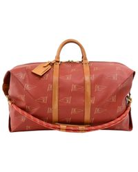 f68284b63c37 Louis Vuitton - Red Coated Canvas Vintage 1995 Lv Cup Duffel Bag - Lyst