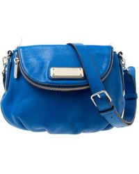 Marc By Marc Jacobs - Blue Leather Classic Q Natasha Crossbody Bag - Lyst