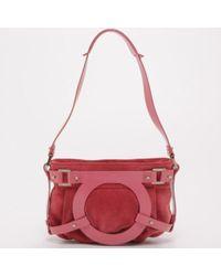 Ferragamo - Suede Small Shoulder Bag - Lyst