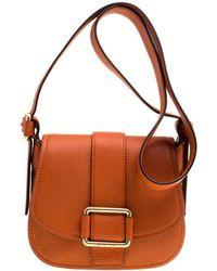 15581edf0012 MICHAEL Michael Kors - Orange Leather Medium Maxine Saddle Crossbody Bag -  Lyst