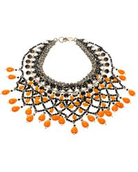 Etro - Crystal Beaded Statement Drop Necklace - Lyst