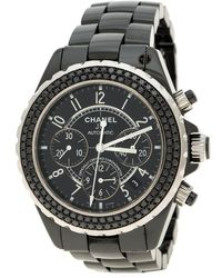 Chanel - Ceramic Stainless Steel J12 Chronograph Men's Wristwatch 41 Mm - Lyst
