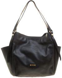 Burberry - Black Leather Small Canterbury Tote - Lyst fbf7c72c0826e