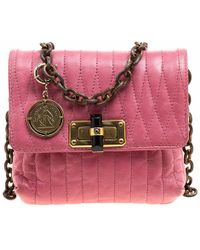 Lanvin - Quilted Leather Mini Happy Crossbody Bag - Lyst