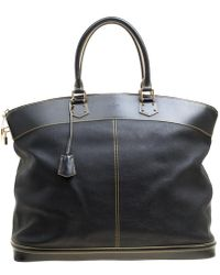 Louis Vuitton - Black Leather Handbag - Lyst