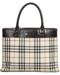 d9601091e1ea Lyst - Burberry Sketchbook Series Reversible Coated Canvas Tote in Black
