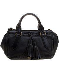 b35f6f4e7cb6 Miu Miu. Medium Grace Lux Calfskin Leather Hobo -. $1,790. Nordstrom ·  Burberry - Leather Logos Fringe 2 Way Hand Shoulder Tote - Lyst