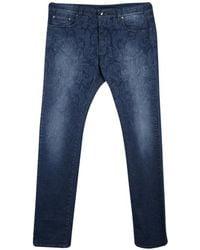 Etro - Indigo Faded Effect Paisley Printed Denim Regular Fit Jeans 3xl - Lyst
