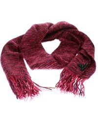 Marc By Marc Jacobs - Pink Chunky Lurex Knit Muffler And Beret Set S - Lyst
