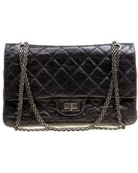 8f75b7dd6aa222 Chanel Metallic Quilted Leather Reissue 2.55 Classic 225 Flap Bag in ...