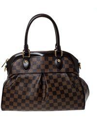 Louis Vuitton - Damier Ebene Canvas Trevi Pm Bag - Lyst