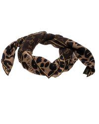 Louis Vuitton - Monogram And Animal Printed Silk Square Scarf - Lyst