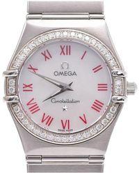 Omega - Mop Stainless Steel Diamond Constellation Women's Wristwatch 23mm - Lyst