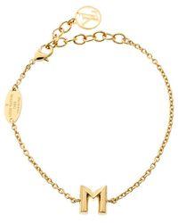 Louis Vuitton - Lv & Me Letter M Tone Bracelet - Lyst