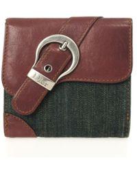 Dior - Denim Saddle Wallet - Lyst