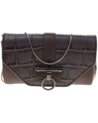 Givenchy - /beige Croc And Lizard Embossed Leather Obsedia Shoulder Bag - Lyst