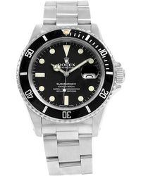 Rolex - Black Stainless Steel Submariner Date Men's Wristwatch 40mm - Lyst