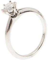 78d33fc3c Tiffany & Co. - H Vvs1 Round Brilliant Diamond Solitaire Ring Size 52.5 -  Lyst