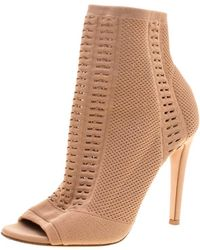 Gianvito Rossi - Perforated Stretch Knit Vires Boots - Lyst