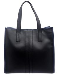 Tod's - /blue Leather Slim Script Tote - Lyst