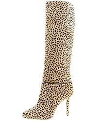 Charlotte Olympia - Leopard Print Pony Hair Corine Knee High Boots - Lyst