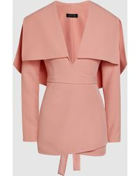 Safiyaa - Cape-back Crepe Jacket - Lyst
