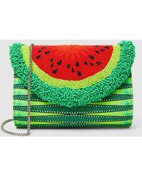 Sarah's Bag - Watermelon Beaded Shoulder Bag - Lyst