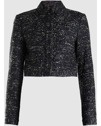 Adam Lippes - Cropped Patch Pocket Cotton Tweed Jacket - Lyst