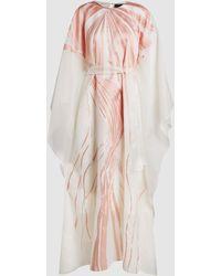 Taller Marmo - Art Nouveau Silk-blend Kaftan - Lyst